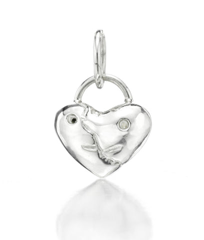 """Broken Heart,"" 2013, in Sterling Silver by Tom Otterness"