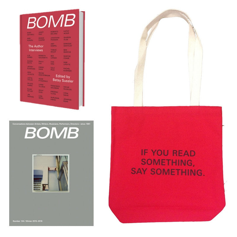 The Author Interviews + BOMB 134 + Red Tote Bundle