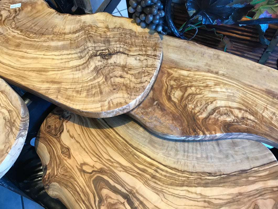 Olive Wood Cutting Boards ($24 to $125)