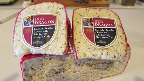 Red Dragon Cheddar Cheese with Whole Grain Mustard & Ale