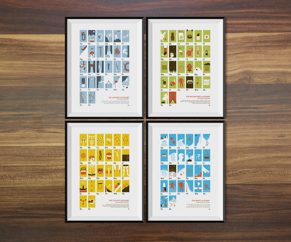 Four-Pack of Alphabet Posters