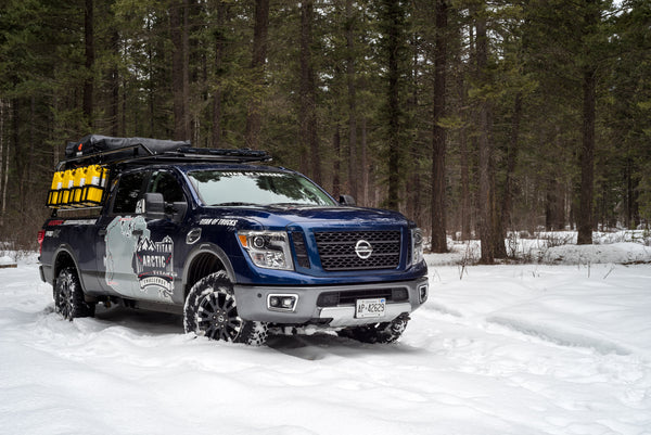 Nissan Titan XD with Roof-Top Tent