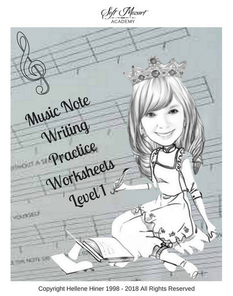 Music Notes Writing Practice Worksheets 1