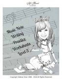 Music Notes Writing Practice Worksheets ALL