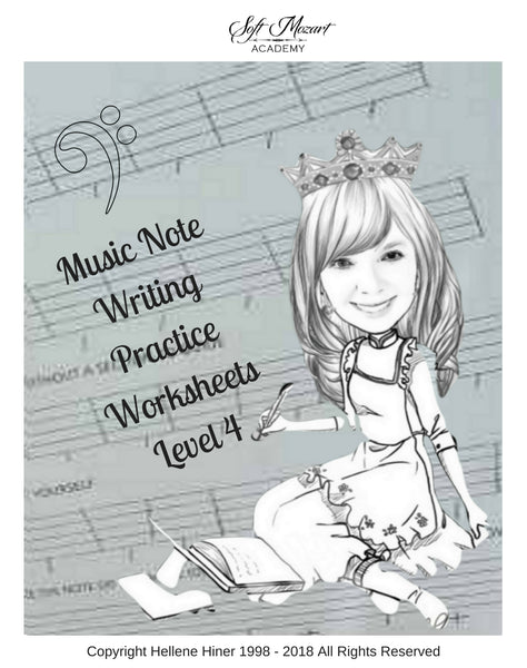 Music Notes Writing Practice Worksheets 4