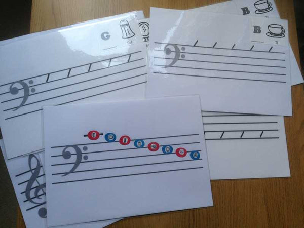 I CAN Write Music Notes Bass Clef. Small Octave