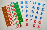 Alphabetical piano key stickers (FREE Shipping) English
