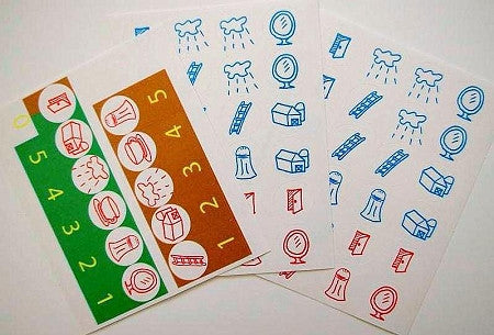 Solfeggio piano key stickers - (FREE shipping) ENGLISH