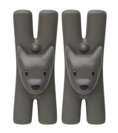 ALESSI Giampo pair of dog shaped clips with magnet