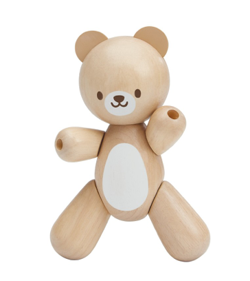 new baby bear from Plan Toys wood toys