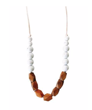 Mom's Teething Necklace- White