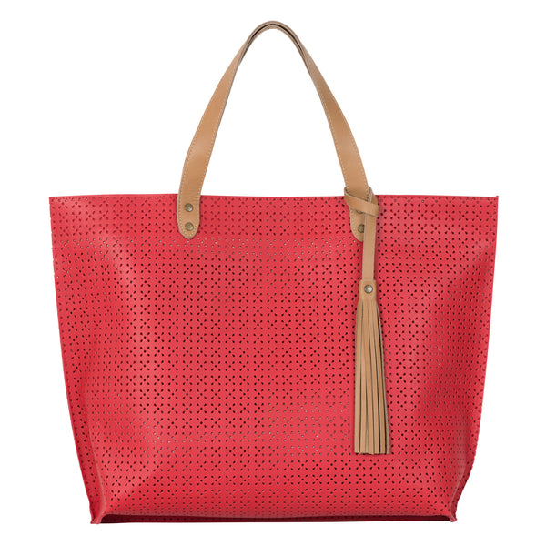 THE WEEKENDER - RED PERFORATED