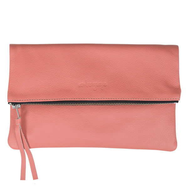 THE FOLDOVER CLUTCH - CORAL