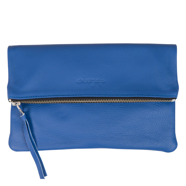 THE FOLDOVER CLUTCH - COBALT