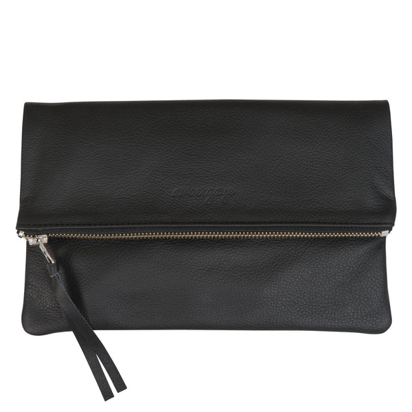 THE FOLDOVER CLUTCH - BLACK