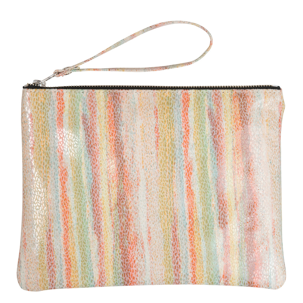 THE ZIP CLUTCH - STRIPE