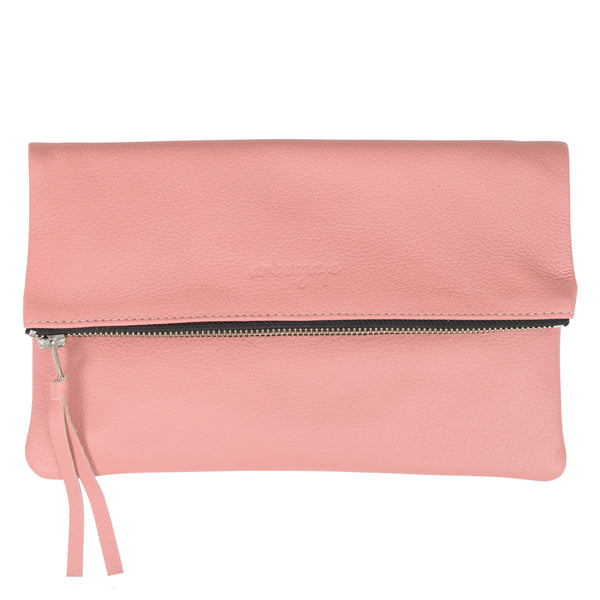 THE FOLDOVER CLUTCH - BLUSH