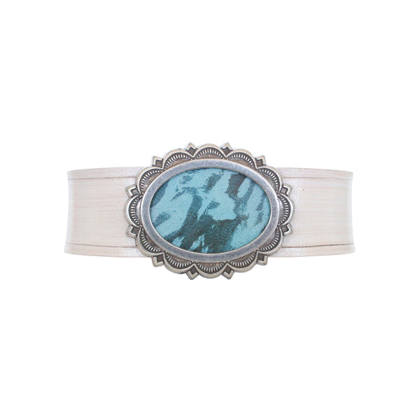 THE CONCHETTE CUFF - TURQUOISE IVORY