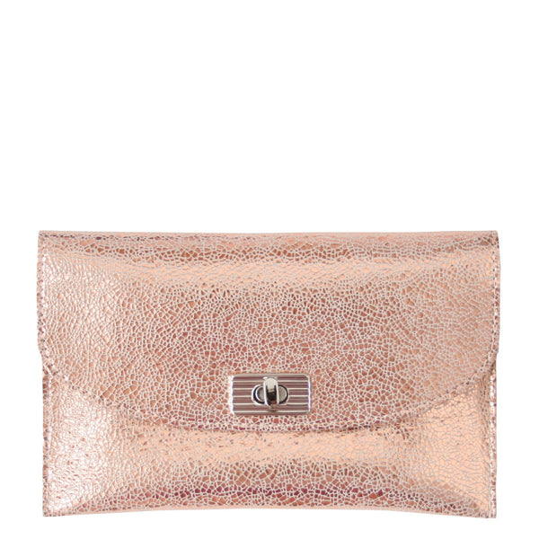 THE TURNLOCK WALLET - ROSE GOLD