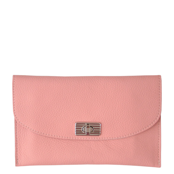 THE TURNLOCK WALLET - BLUSH