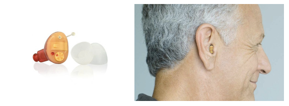 CIC Hearing Aid Shown On Ear
