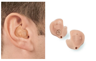 ITE Hearing Aid Shown On Ear