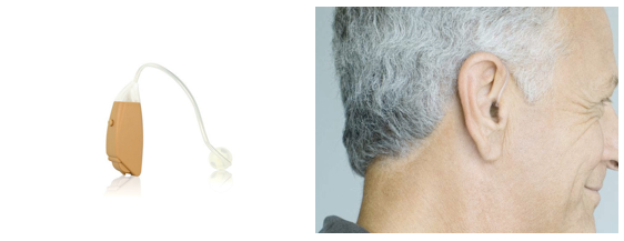 Open Fit Hearing Aid Shown On Ear