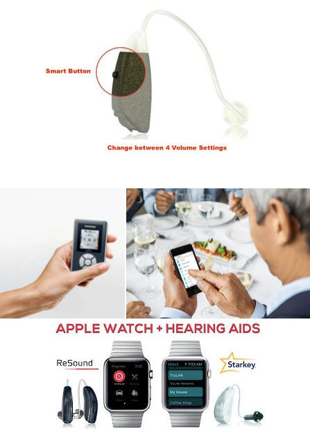 Different ways to adjust the volume of hearing aids