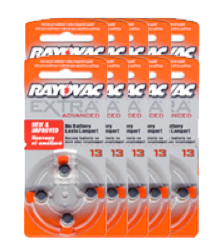 #13 Hearing Aid Batteries - Box of 40 batteries