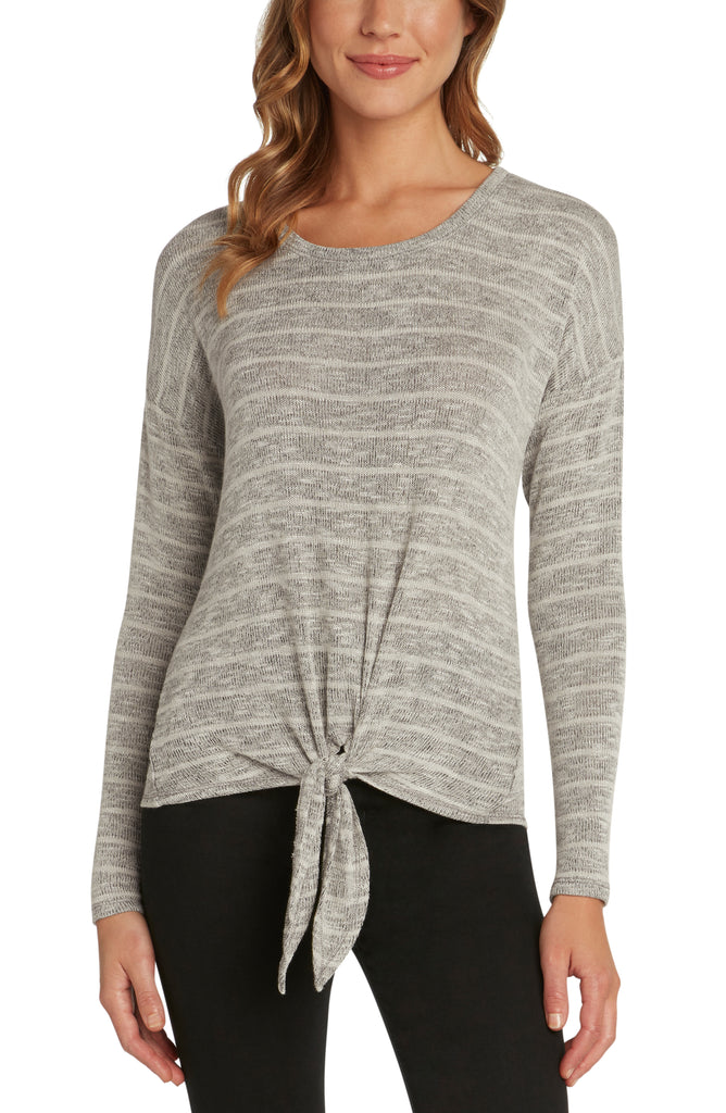 Grayson Long Sleeve Front Tie Tee