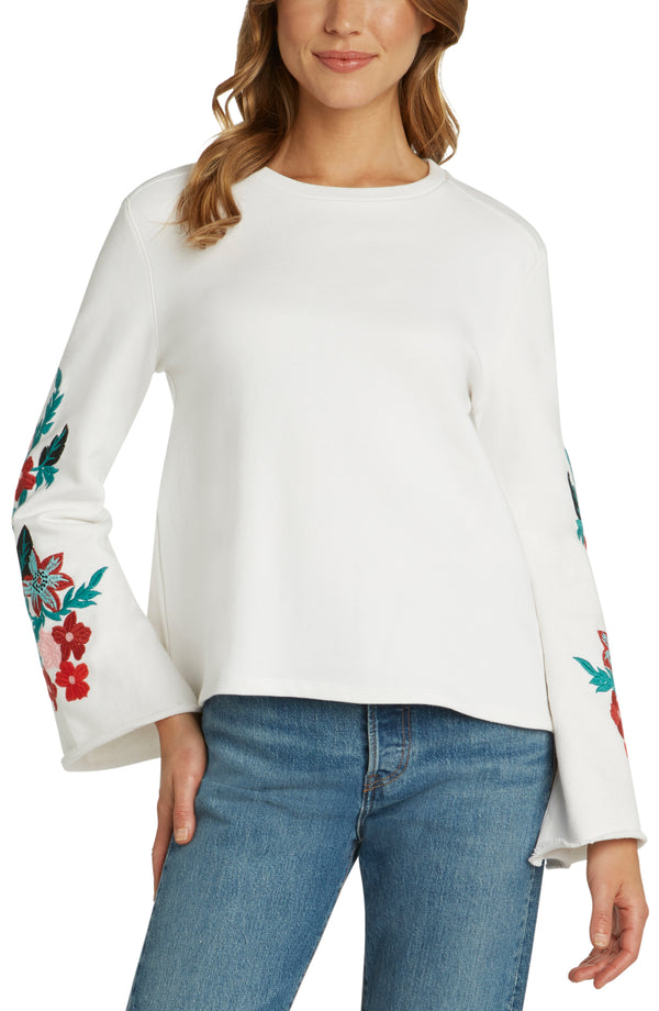 Cypress Embroidered Pullover Sweater