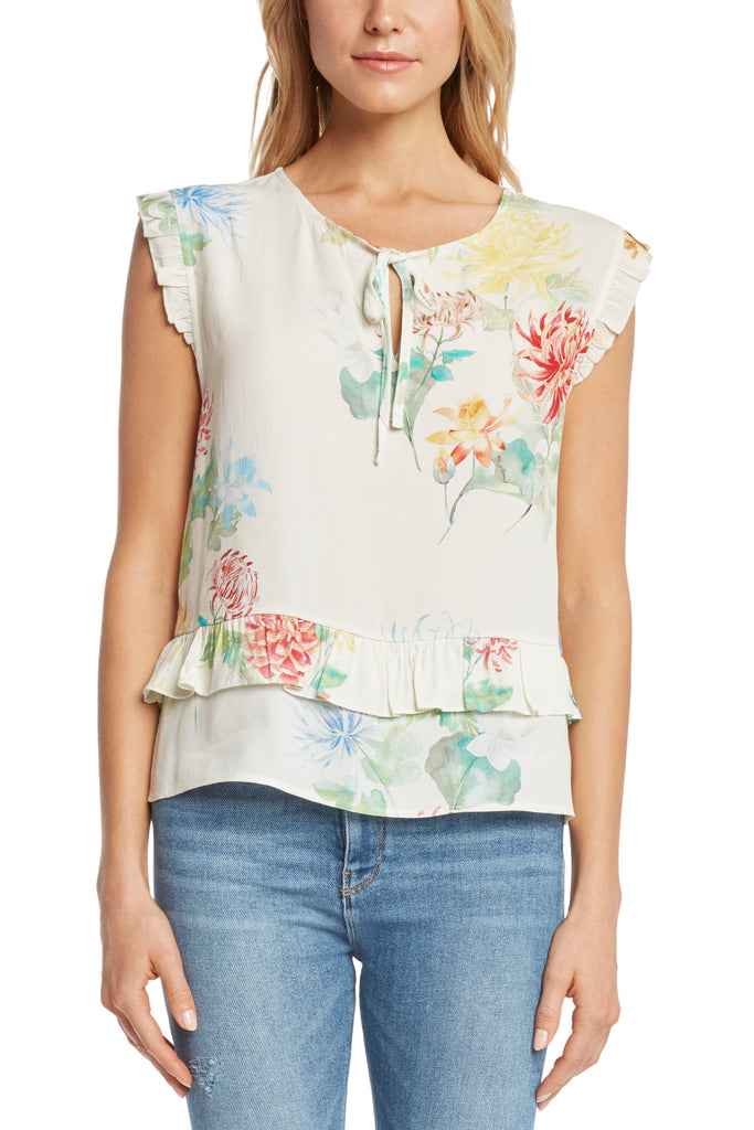 Long Beach Sleeveless Floral Top