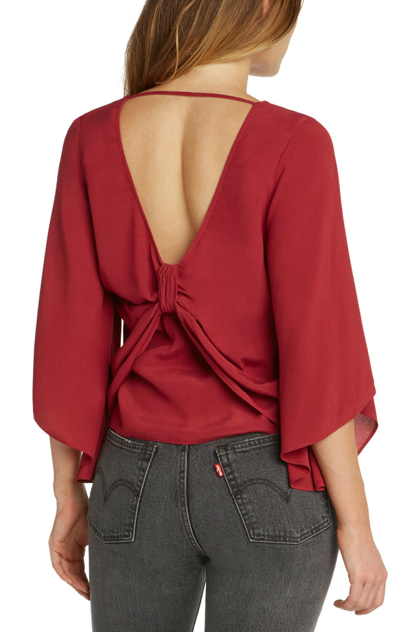 Jasper Bow Back Top