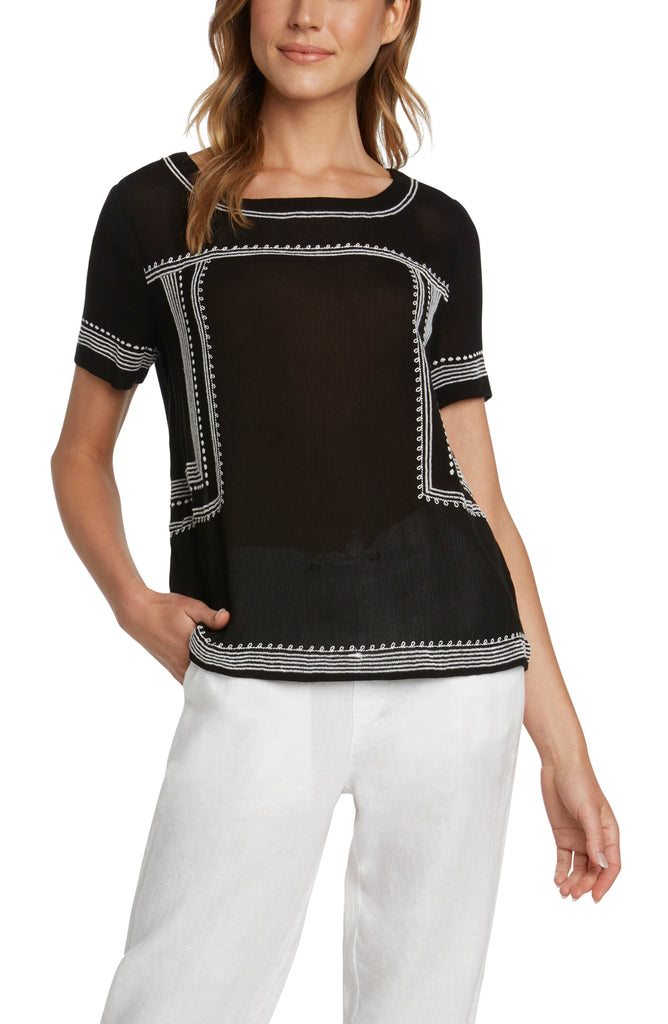 Dalton Embroidered Top