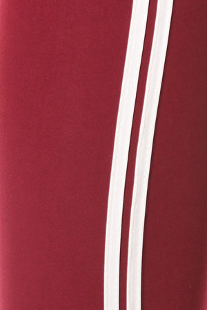 Stripped Red And White Track Jogger - STEVEN WICK