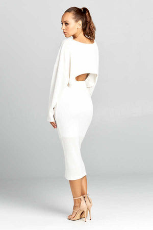 Off White Knit Two Piece Set - STEVEN WICK