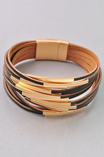 Load image into Gallery viewer, Gold Multi Row Magnetic Bracelet - steven wick