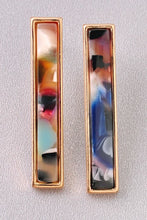 Load image into Gallery viewer, Multi-Color Rectangle Acrylic Earrings - steven wick