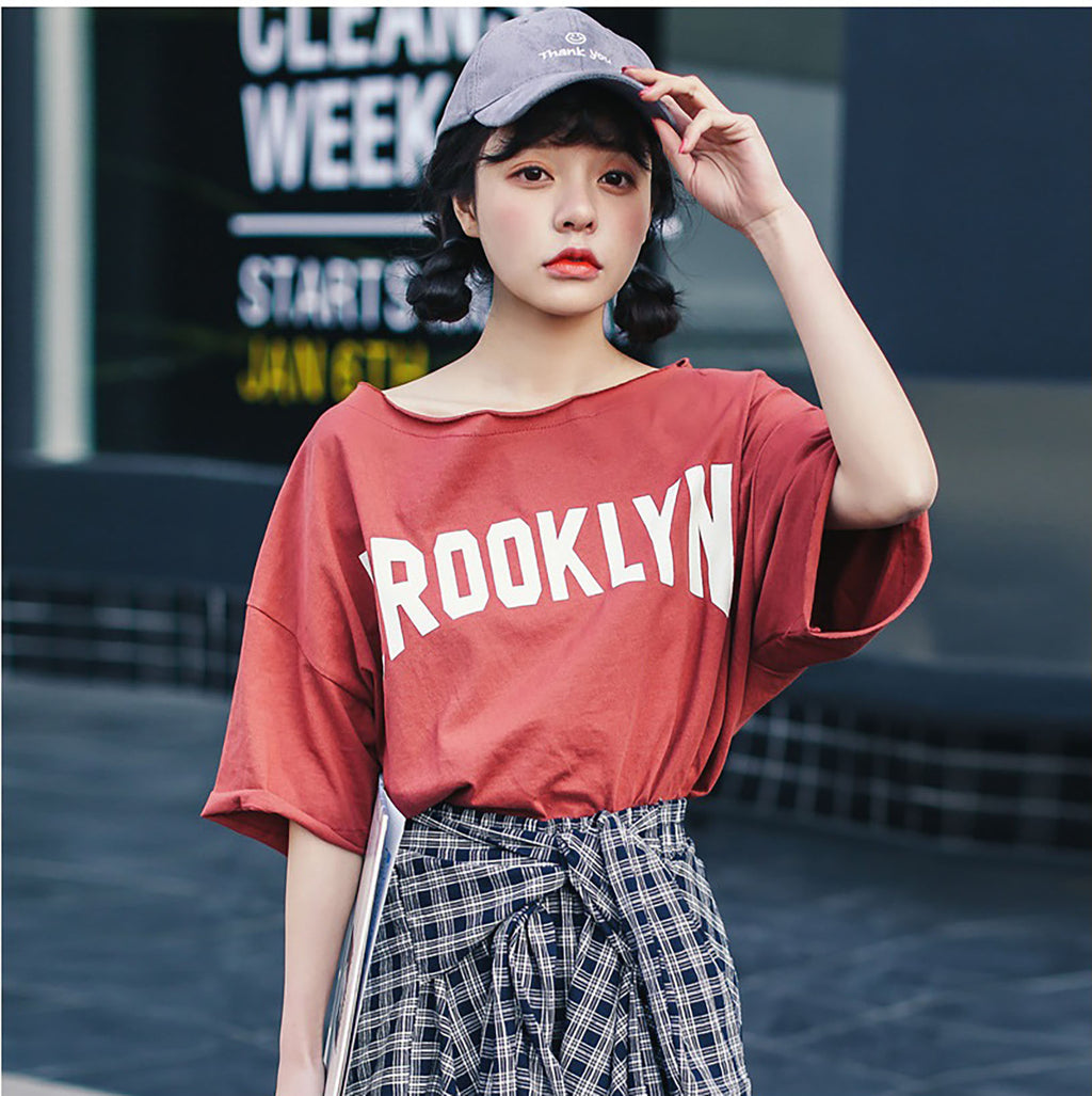 Round Collar Loose Brooklyn T-shirt - STEVEN WICK