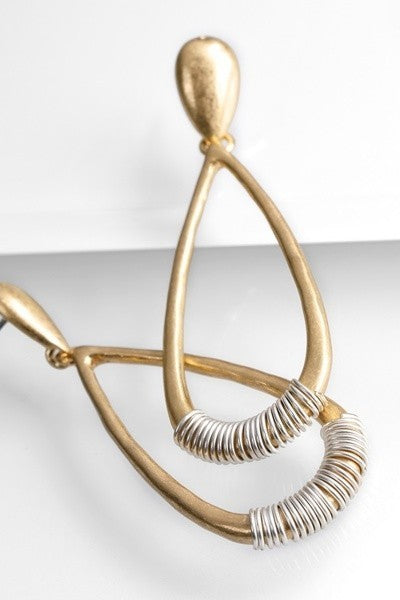 Wire Wrap Accent Drop Earrings - STEVEN WICK
