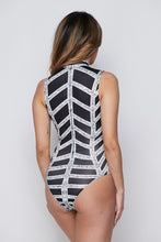 Load image into Gallery viewer, Geometric Print Rhinestone Bodysuit - steven wick