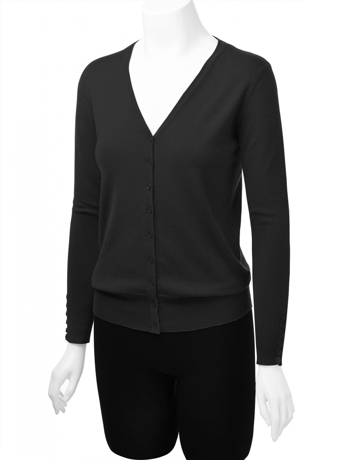 Long Sleeve Button Down Classic Knit Cardigan - STEVEN WICK