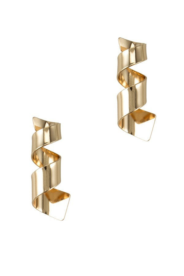 Twisted Flat Metal Earrings - STEVEN WICK
