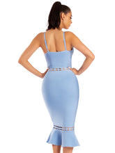 Load image into Gallery viewer, Clarissa Light Blue Bandage Dress - steven wick