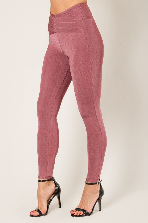 Ross Brown Cross Fitted Bandage Pants - STEVEN WICK