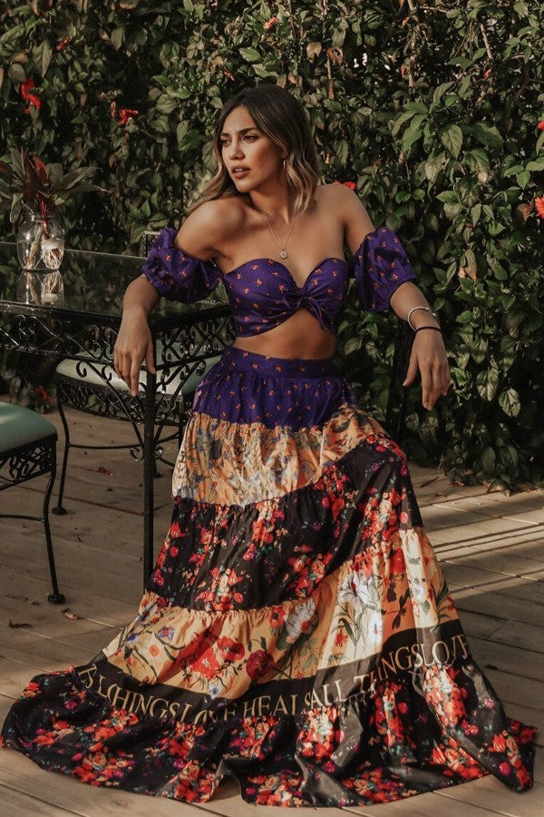Multi-Color Maxi Two Set Love Heals Violeta - STEVEN WICK