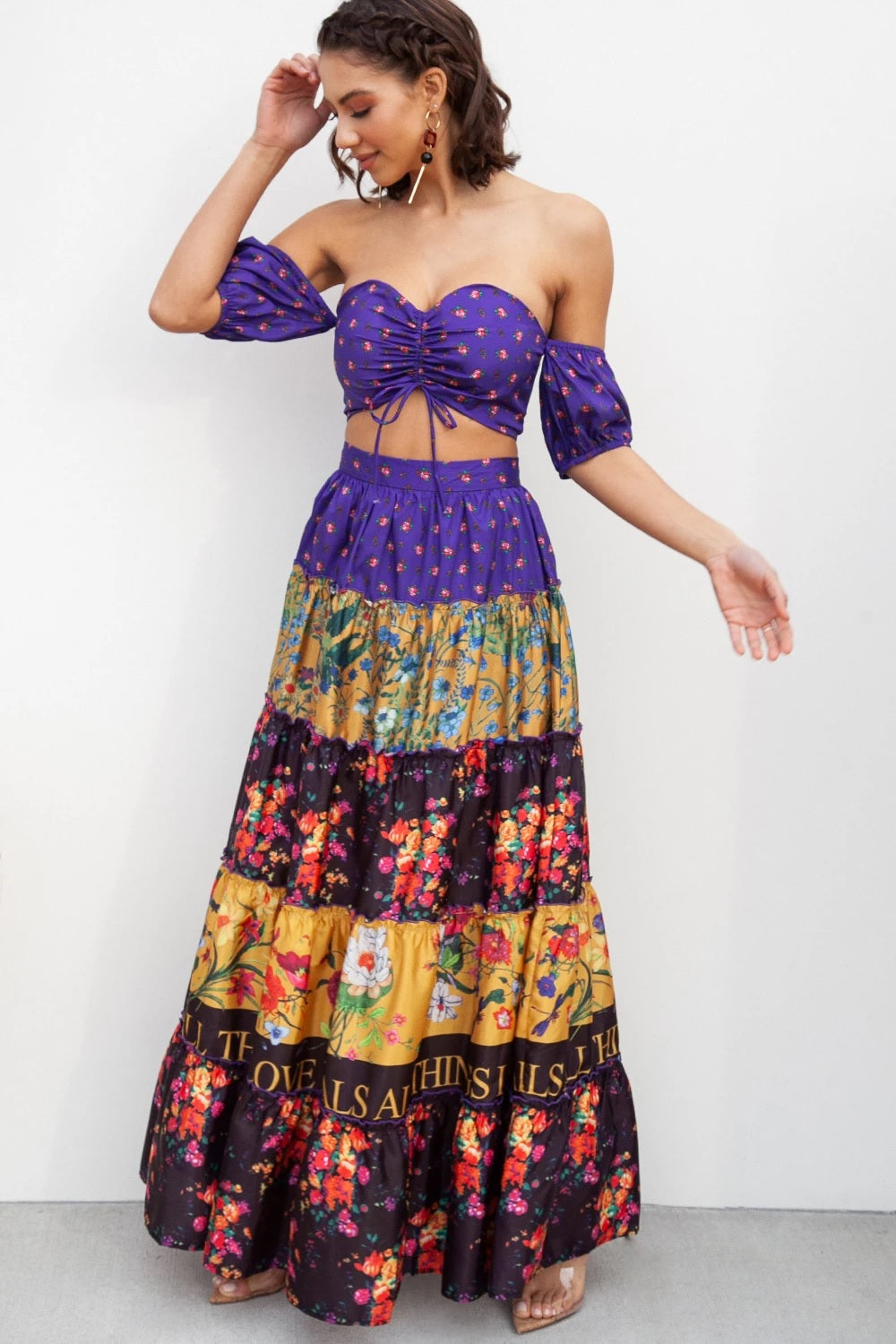 Leslie Multi-Color Maxi Two Set Love Heals Violeta - STEVEN WICK