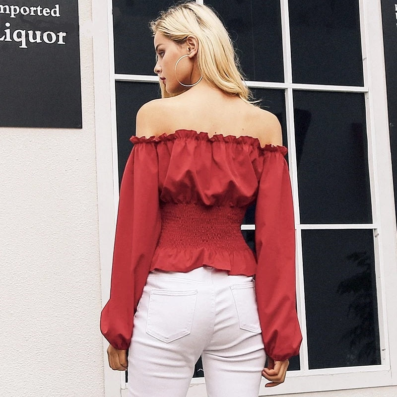 Off Shoulder Lace-up Corset Top - STEVEN WICK
