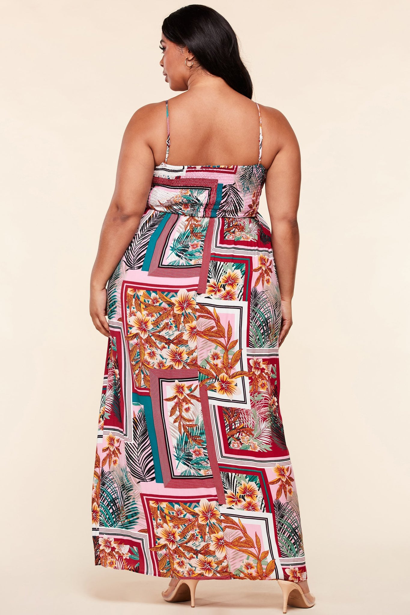 Floral Multi Plus Size Print Maxi Dress - steven wick