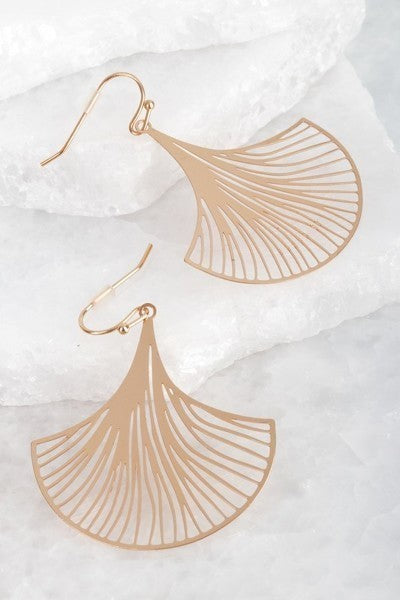 Laser Cut Filigree Flower Hook Earrings - stevenwick
